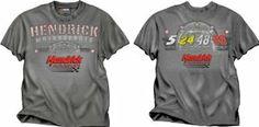NASCAR Hendrick Motorsports Team Hendrick Grey Short Sleeve Men's T-Shirt by Checkered Flag. $25.00. Made By Checkered Flag Sports. Screen Printed Graphics. 100% Pre-Shrunk Cotton. Show your love for nascar and Hendrick Motorsports with this stylish and comfy tee by checkered flag sports