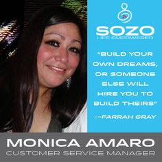 We want everyone to get to know our SOZO Team, so each week we will highlight a member of our SOZO Team! To start things off, we want to highlight Monica Amaro, our wonderful Customer Service Manager! More then any other product, Monica loves SOZO 100% Colombian Coffee - everyday with 2 creams and 1 sugar so she can get that SOZO morning boost that keeps her energized all day long! #SOZOLife