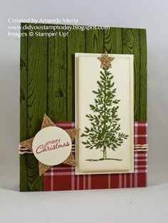 Did You Stamp Today?: Lovely Christmas Tree  Uses: Lovely As A Tree, Hardwood, Petite Pairs, Trim the Tree DSP stack, Stampin' Up!, SU