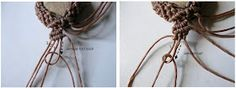 Ecocrafta Macrame : Macrame wrapping: Extended pattern
