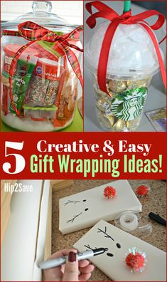 5 EASY and UNIQUE Christmas Gift Wrapping Ideas – Hip2Save