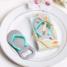 Summer Beach Silver Metal Flip Flops Bottle Wine Opener Favour Anniversary Wedding favors gifts Party supplies Free Shipping
