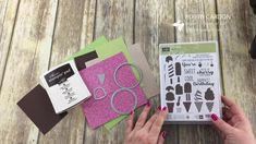 Stampin' Up! Cool Treats Bundle with Sugarplum Glimmer by Robyn Cardon - Stampin' Up! Demonstrator.