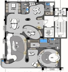 Pin uživatele light h na nástěnce plan v roce 2019 how to pl Office Layout Plan, Office Plan, Apartment Layout, Apartment Plans, Modern House Plans, House Floor Plans, Hotel Floor Plan, Design Hotel, Plan Design