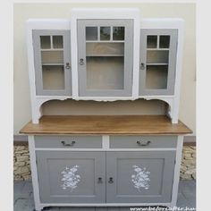 Diy Furniture Projects, Chalk Paint Furniture, Upcycled Furniture, Shabby Chic Furniture, Furniture Makeover, Vintage Furniture, Vintage Buffet, Farmhouse Kitchen Cabinets, Herd