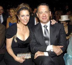 """Rita Wilson and Tom Hanks:  """"The woman I share my life with has taught me and demonstrates to me every day just what love is,"""" Hanks has said of his wife of 22 years."""