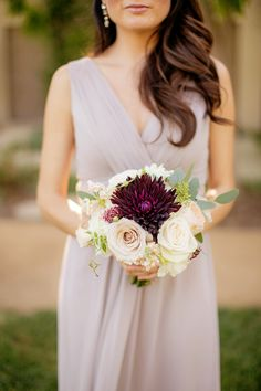 Beautiful pop of color! View the full wedding here: http://thedailywedding.com/2016/07/17/stunning-lake-wedding-kelly-jesse/
