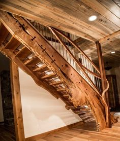 Amazing live edge staircase.