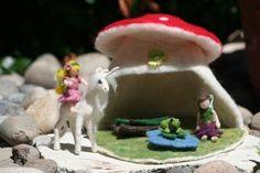My Needle Felted Fairy House Playset