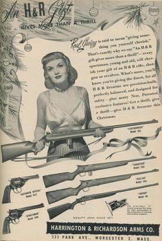 Wall art. Harrington /& Richardson Reproduction Vintage Gun advert poster