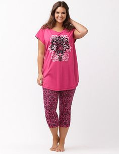 Graphic crop legging PJ set by Cacique  db1572e89