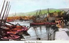 From over 100 Years ago a view of the Harbour Girvan - 1913 https://www.facebook.com/treelap/photos/a.292061040899939.56379.193943477378363/929839647122072/?type=3