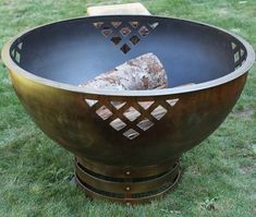 Woven Thoughts Fire Pit - Unique, handcrafted, forged steel, perfect addition to your outdoor living Fire Pit Art, Iron Fire Pit, Fire Pit Bowl, Metal Fire Pit, Wood Burning Fire Pit, Fire Bowls, Outdoor Fire Pit Kits, Country Wood Signs, Rustic Fire Pits