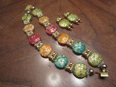 Bracelet and earring custom made from Joyce Brittain's broken flip flops!