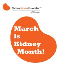 It's officially National #KidneyMonth! For kidney disease information and events during Kidney Month this March, please visit: www.nkfm.org.