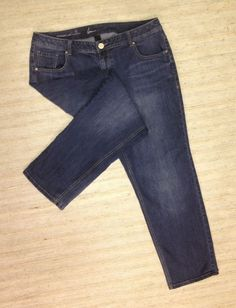 LANE BRYANT GENIUS FIT STRAIGHT LEG Sz 18 STRETCH JEANS ACTUAL 37X30 NICE F69 #LaneBryant #StraightLeg