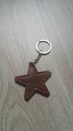 Hey, I found this really awesome Etsy listing at https://www.etsy.com/listing/221582583/keychain-leather-star