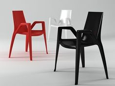 Heller Arco Chair 3d model | Claudio Bellini