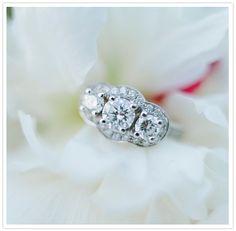 tri-stone engagement ring
