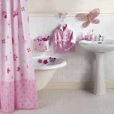 Little Boutique Butterfly Bathroom Decor Set