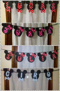 Mickey y Minnie.
