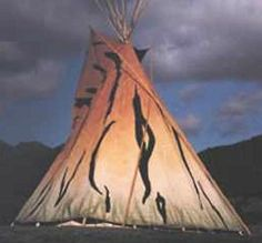 One Moon Tipi .I am asking for Elk hide donations to use in the tipi