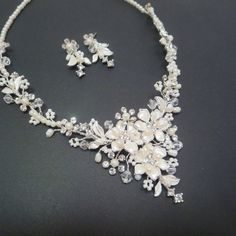 Pearl necklace Bridal necklace Wedding by TheExquisiteBride