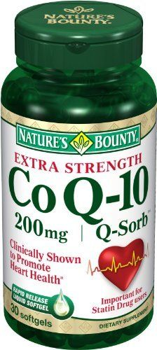 Nature's Bounty Q-Sorb CoQ10, 200mg, 30 Softgels by Nature's Bounty. $12.29. Amazon.com                Co Q-10 Q-Sorb 200 mg30 + 15 Bonus SoftgelsCo Q-10 Q-Sorb 200 mgCo Q-10 can replenish what statin medications can deplete.◊One a day is all you need as these rapid-release liquid softgels disperse quickly into your system.Nature's Bounty Co Q-10 Extra Strength Q-Sorb Softgels feature Q-Sorb, a natural, highly bioavailable form of Co Q-10 that promotes a healthy heart, ...