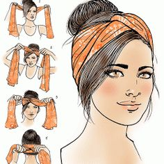 Turban how-to for Latina Magazine More
