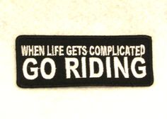 WHEN LIFE GETS COMPLICATED Small Badge Patch for Biker Vest SB719
