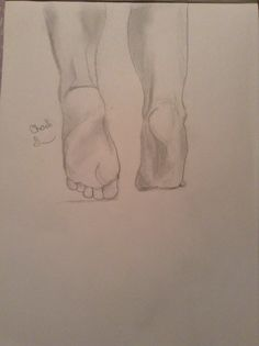 My Chaeli drew these feet!   Drawing of feet!!
