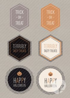 Hello, Halloween Printable Treat Labels: Set 1  {K.Becca}