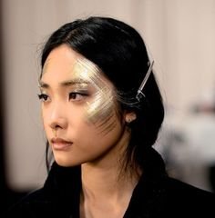 Runway make-up, backstage at Chanel's Pre-Fall/Winter 2013-2014, Paris-Dallas Collection in Dallas, Texas.