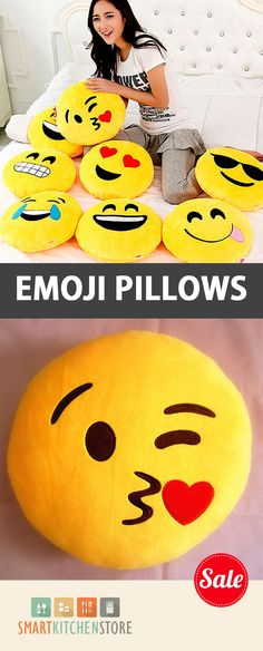 Emoji Pillows to Express Yourself! Limited Quantities. #Emoji :)