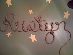 """This is rope on someones """"cowboy themed"""" wall in there sons bedroom. genius"""