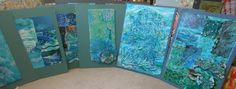 Textile Art online Gallery - Jills pictures of textile fibre art Textile Fiber Art, Textile Artists, Sample Boards, Online Gallery, Online Art, Underwater, Textiles, Sea, Artwork