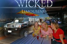 Limo Hire Mandurah on the Foreshore with the H2 Hummer Tour