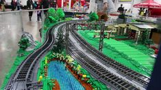 Running trains on PennLUG's train layout at Philly Brick Fest 2016.  by Cale Leiphart