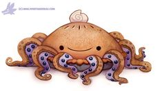 cryptid-creations: Daily Paint #1155. Octopie by Cryptid-Creations Time-lapse, high-res and WIP sketches of my art available on Patreon (: