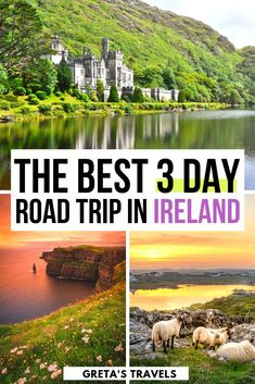 Ireland Itinerary: Cork to Dublin Road Trip on the Wild Atlantic Way - - Planning a road trip to Ireland? Check out this guide for all the best things to do and see in Ireland; including Cork, Kerry, Galway and Dublin. Ireland Travel Guide, Dublin Travel, Ireland Destinations, Family Destinations, Italy Travel, Road Trip Packing, Road Trip Hacks, Travel Packing, Castle Hotels In Ireland