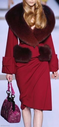 Dior. For the color and the faux fur.