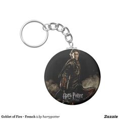 Goblet of Fire - French 1 Basic Round Button Keychain