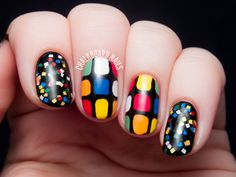 Rubik's Cube Nail Art | Chalkboard Nails | Nail Art Blog