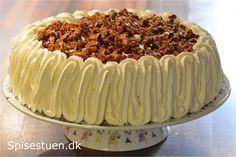 æblelagkage-16 Fruit Recipes, Keto Recipes, Danish Food, Honey Cake, Bread Cake, English Food, Dessert Drinks, Cheesecake, Tart
