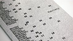 Gregor calendar by industrial designer Patrick Frey
