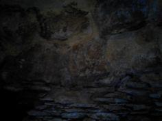 Detalle del interior de la Cueva del Vaquero.