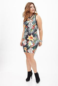 Tropical Floral Bodycon Dress | FOREVER21 PLUS - 2000066777