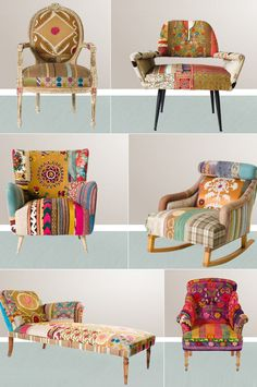 i would love to learn to refinish some chairs cute and colorful!