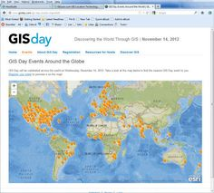 GISday events map from Esri http://www.gisday.com/gis-day-events-map.html