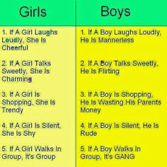 A Controversial Comparison of Boys and Girls